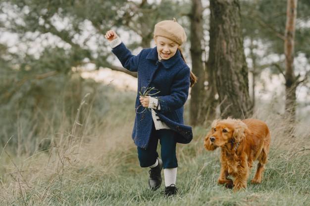 børn med hund