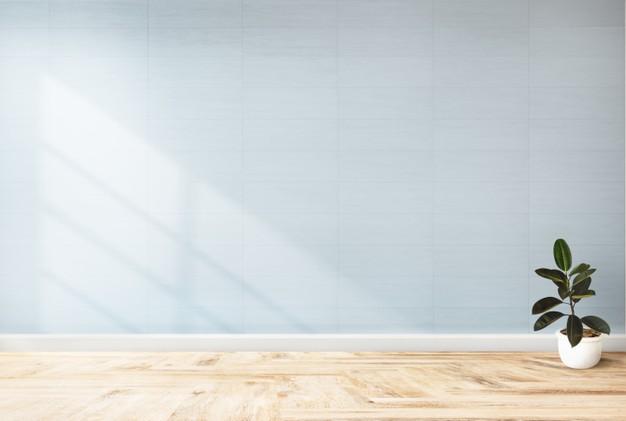 lyseblå væg
